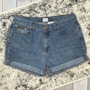 Calvin Klein vintage style cut off shorts